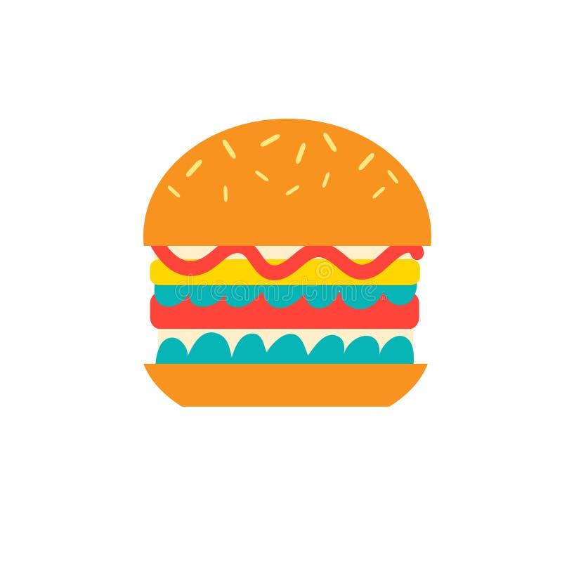 Διανυσματικό εύγευστο burger εικονίδιο διανυσματική απεικόνιση