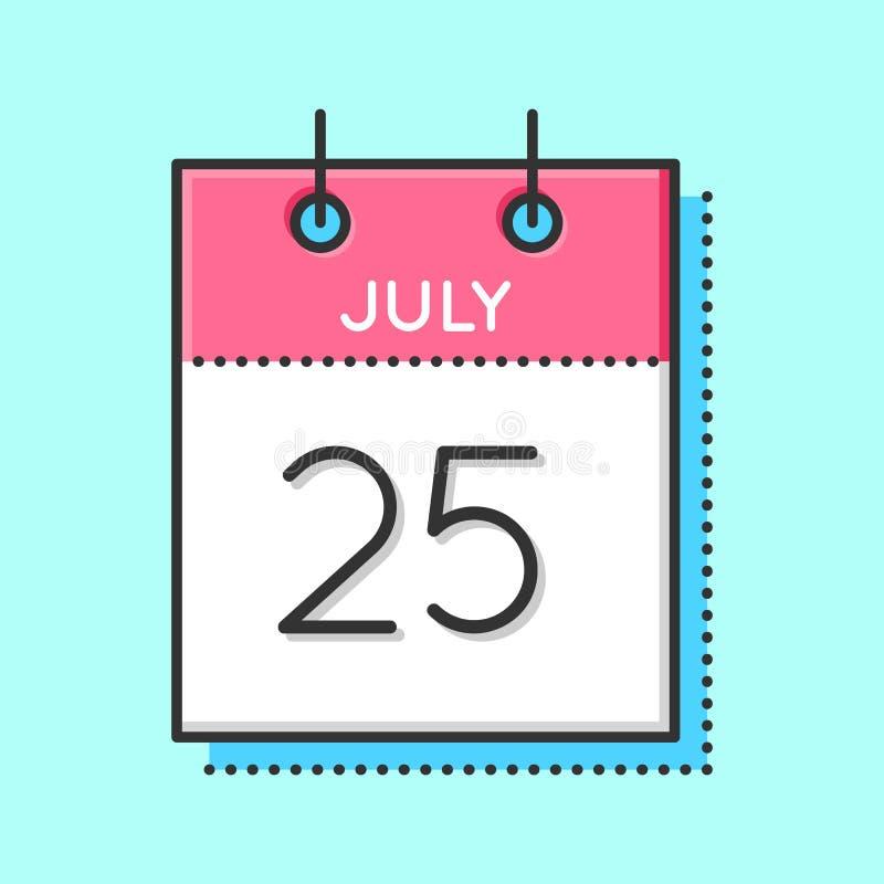 Διανυσματικό ημερολογιακό εικονίδιο απεικόνιση αποθεμάτων