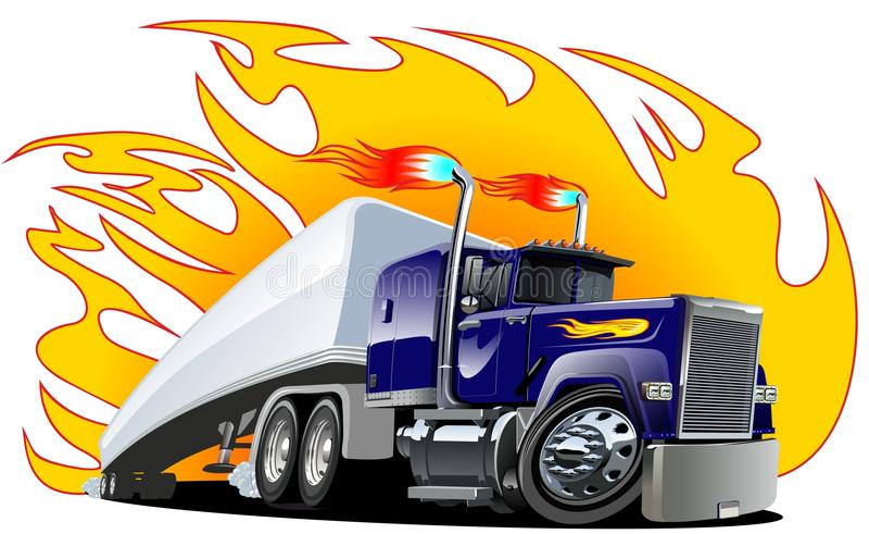 Διανυσματικό ημι truck κινούμενων σχεδίων. διανυσματική απεικόνιση