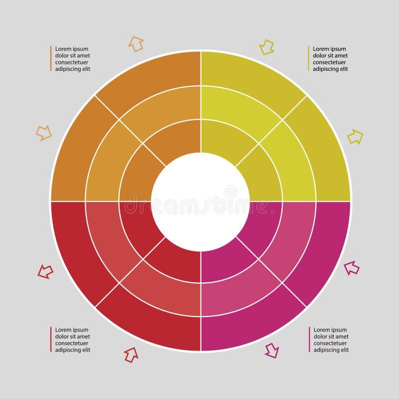 Διανυσματικό διάγραμμα διοικητικής διαδικασίας διανυσματική απεικόνιση