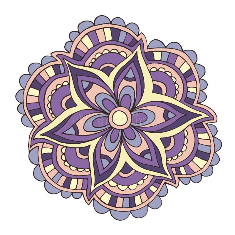 Διανυσματικό διακοσμητικό ιώδες θερινό λουλούδι χρώματος διανυσματική απεικόνιση