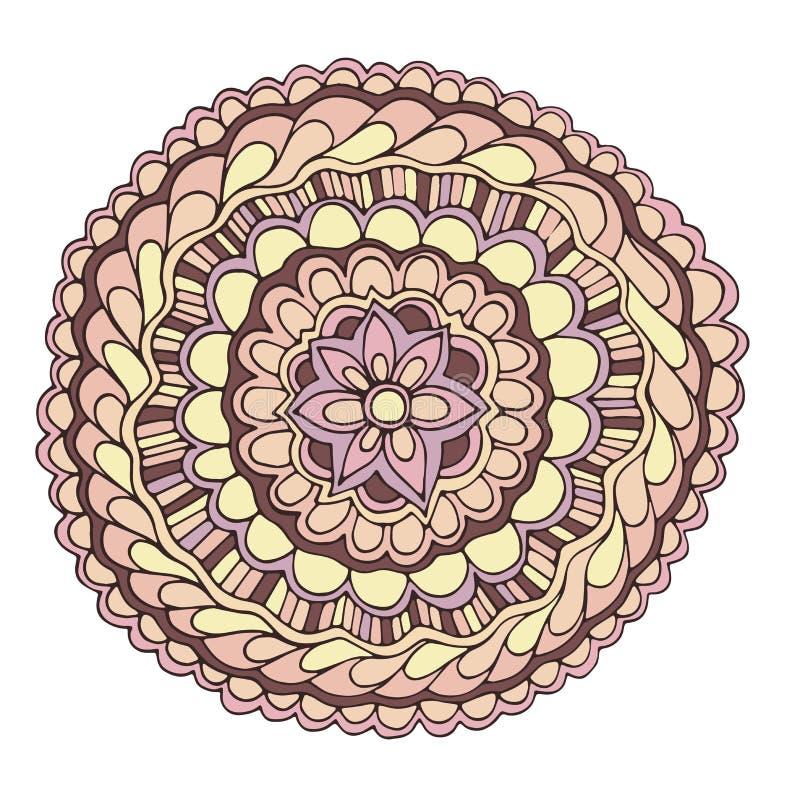 Διανυσματικό διακοσμητικό ρόδινο θερινό λουλούδι χρώματος απεικόνιση αποθεμάτων