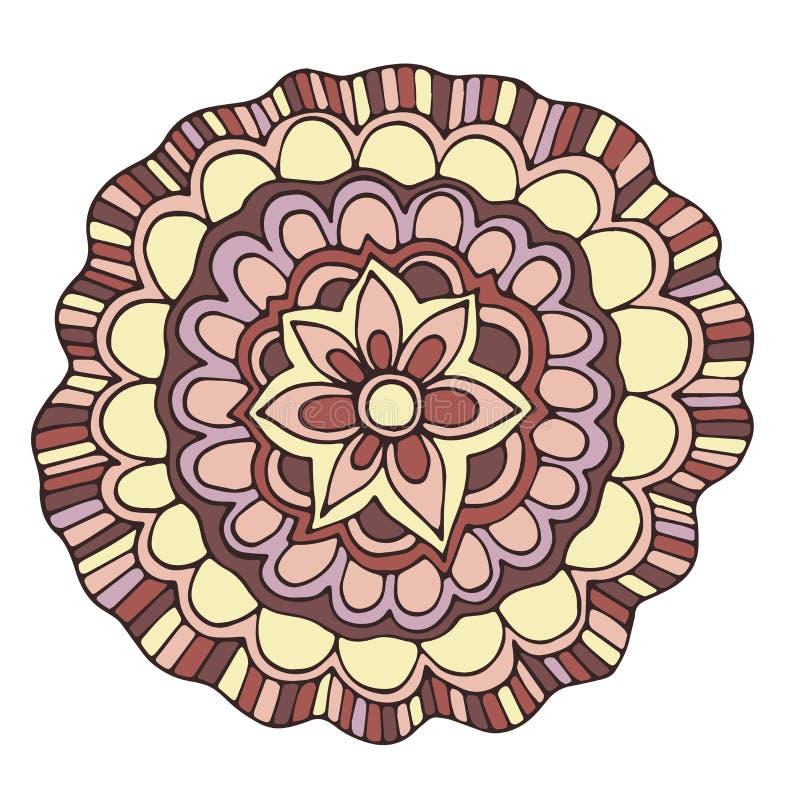 Διανυσματικό διακοσμητικό ρόδινο θερινό λουλούδι χρώματος διανυσματική απεικόνιση