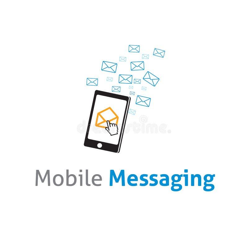 Διανυσματικό διανυσματικό πρότυπο επιχειρησιακών λογότυπων κινητής επικοινωνίας απεικόνιση αποθεμάτων