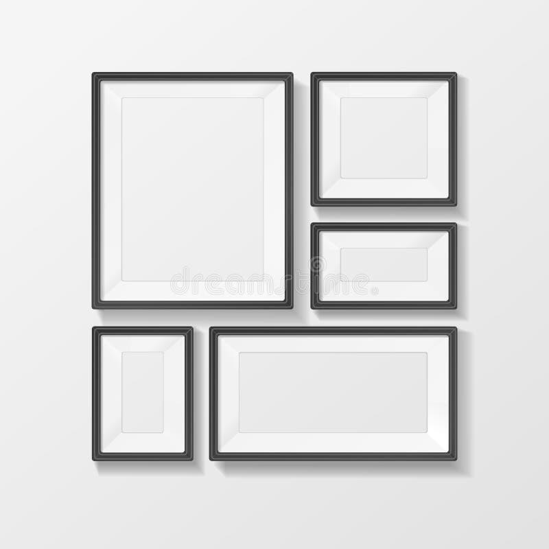Διανυσματικό διανυσματικό σύνολο πλαισίων εικόνων ελεύθερη απεικόνιση δικαιώματος