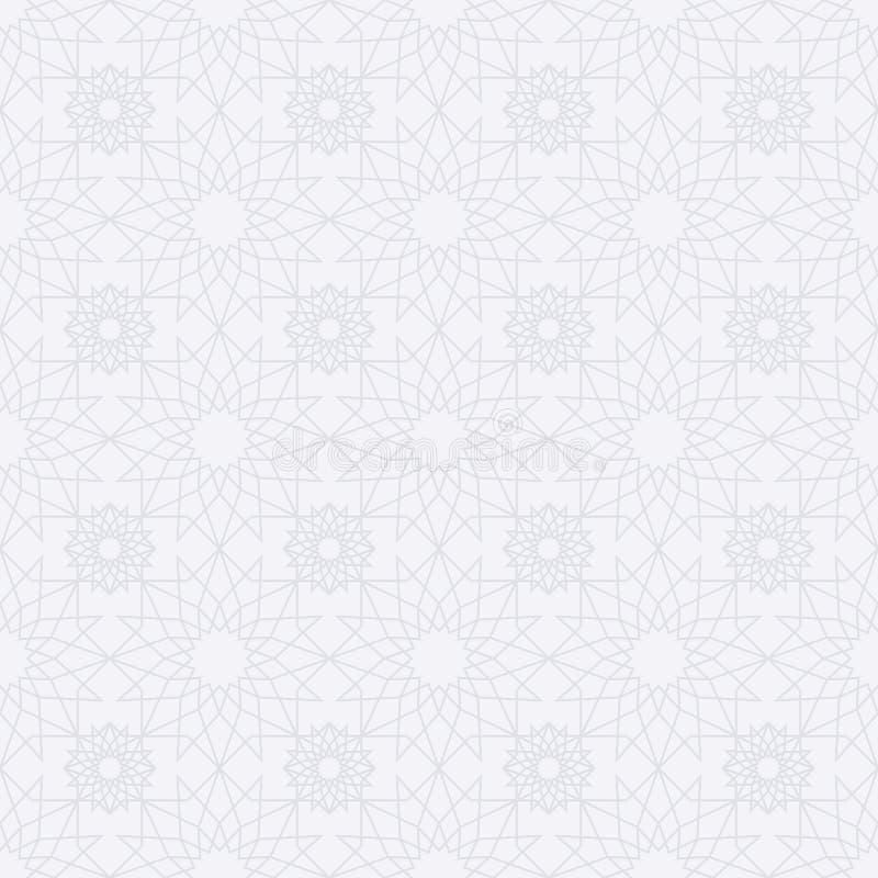 Διανυσματικό ισλαμικό άνευ ραφής σχέδιο αποθεμάτων διανυσματική απεικόνιση