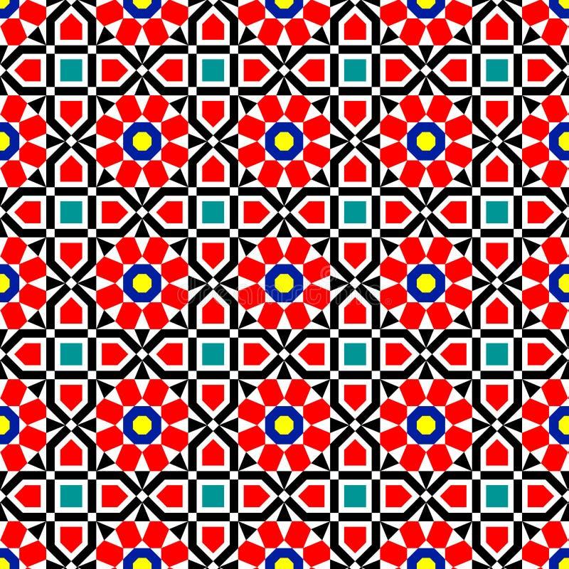 Διανυσματικό ισλαμικό σχέδιο τέχνης απεικόνιση αποθεμάτων