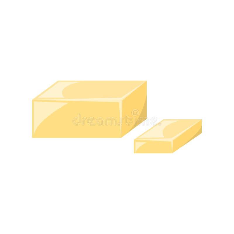 Διανυσματικό κίτρινο βούτυρο κινούμενων σχεδίων απεικόνιση αποθεμάτων
