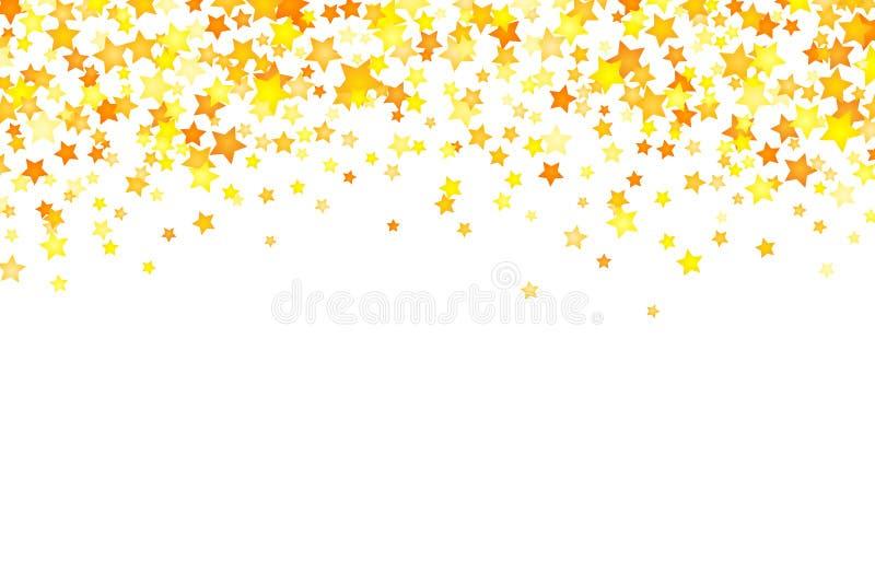 Διανυσματικό κίτρινο στοιχείο υποβάθρου αστεριών στο επίπεδο ύφος διανυσματική απεικόνιση