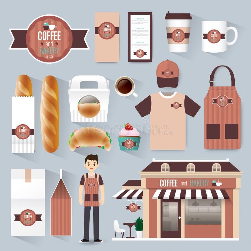 Διανυσματικό καθορισμένο ιπτάμενο καφέδων εστιατορίων, επιλογές, συσκευασία διανυσματική απεικόνιση