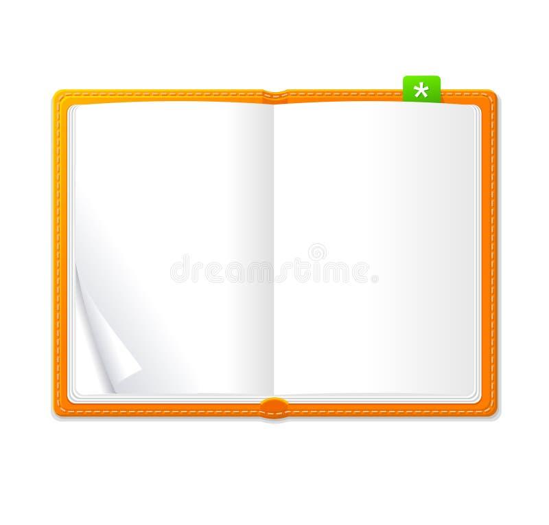 Διανυσματικό κενό ανοικτό βιβλίο ελεύθερη απεικόνιση δικαιώματος