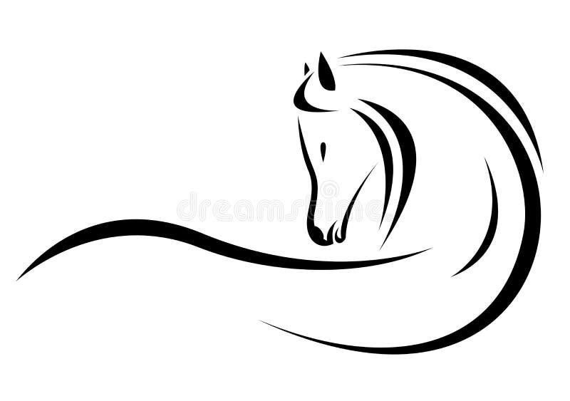 Διανυσματικό κεφάλι του αλόγου ελεύθερη απεικόνιση δικαιώματος