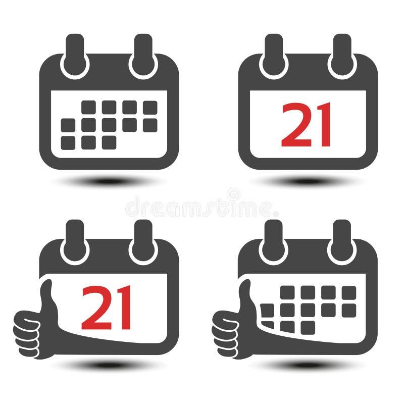 Διανυσματικό κινητό εικονίδιο ημερολογιακού Ιστού μαύρο σημάδι Σύμβολο που δείχνει έναν ενιαίο μήνα ή ημερησίως Κουμπί με το χέρι διανυσματική απεικόνιση