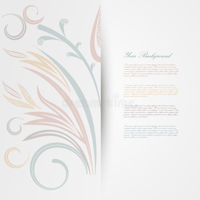 Διανυσματικό κομψό υπόβαθρο με τη διακόσμηση δαντελλών ελεύθερη απεικόνιση δικαιώματος