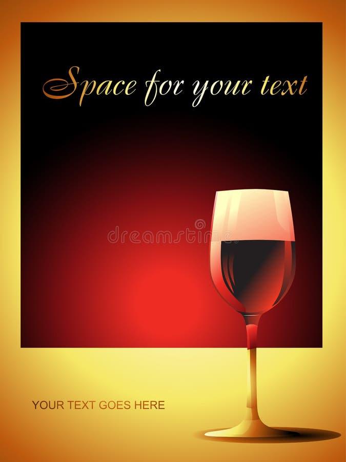 διανυσματικό κρασί γυαλ διανυσματική απεικόνιση