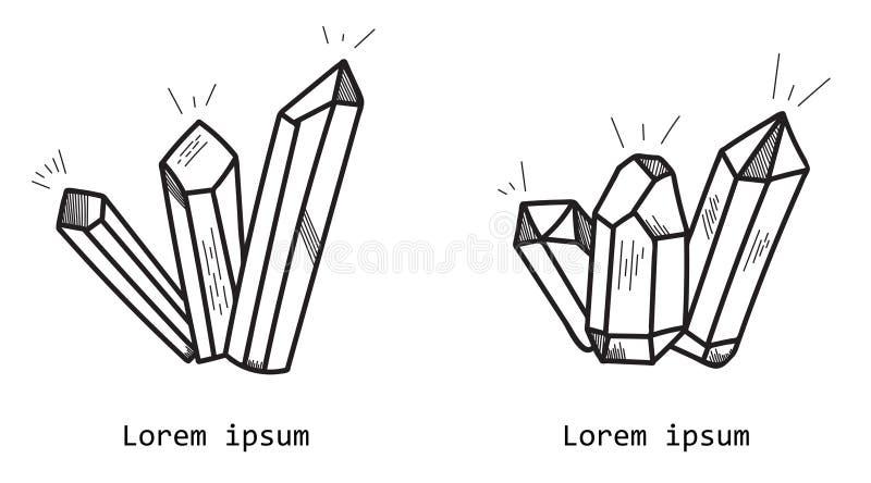 Διανυσματικό κρύσταλλο απεικόνιση αποθεμάτων