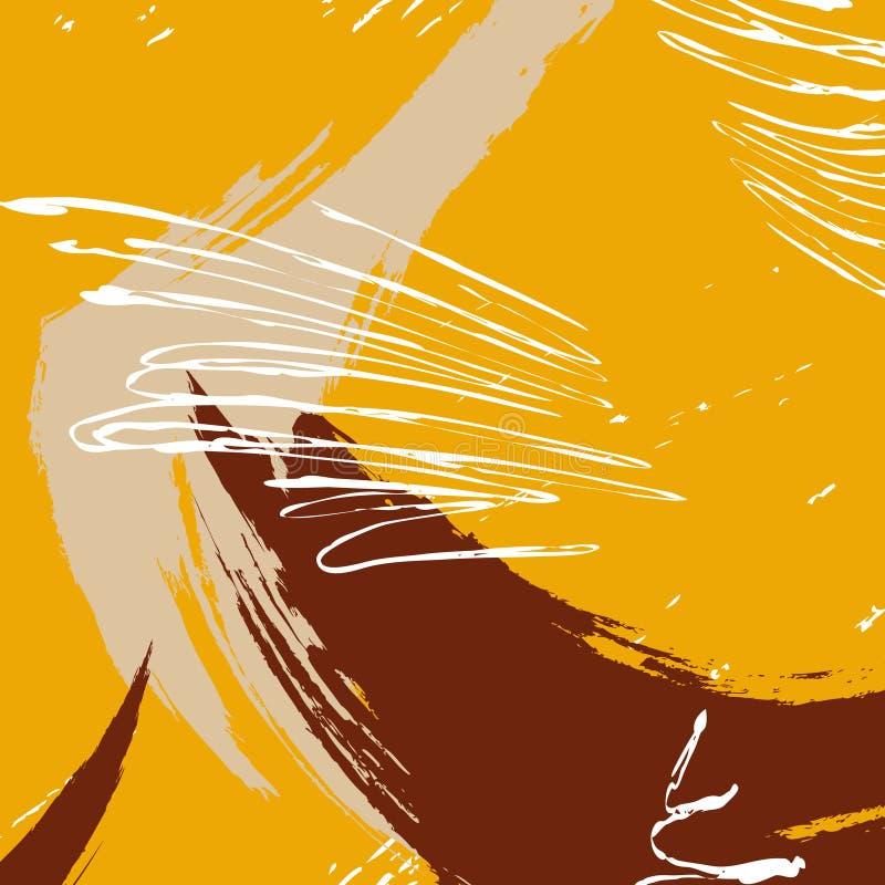 Διανυσματικό κτύπημα βουρτσών χρωμάτων αντίθεσης Σύσταση ιπτάμενων με την εκφραστική ταπετσαρία κτυπήματος βουρτσών watercolor γρ διανυσματική απεικόνιση