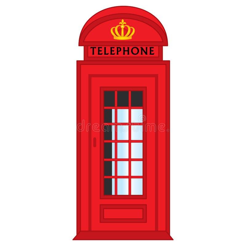 Διανυσματικό κόκκινο τηλεφωνικό κιβώτιο του Λονδίνου ελεύθερη απεικόνιση δικαιώματος