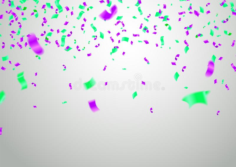Διανυσματικό κόμμα απεικόνισης αποθεμάτων που πετά τα πορφυρά και διάφορα ρεαλιστικά μπαλόνια χρωμάτων Μακρο επίδραση Defocused Π ελεύθερη απεικόνιση δικαιώματος