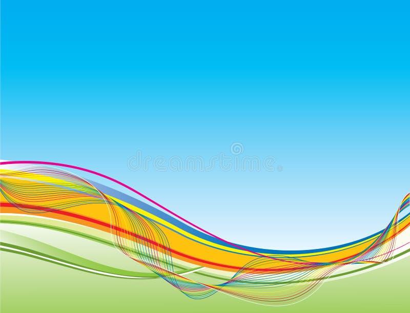 διανυσματικό κύμα ανασκόπ&e διανυσματική απεικόνιση