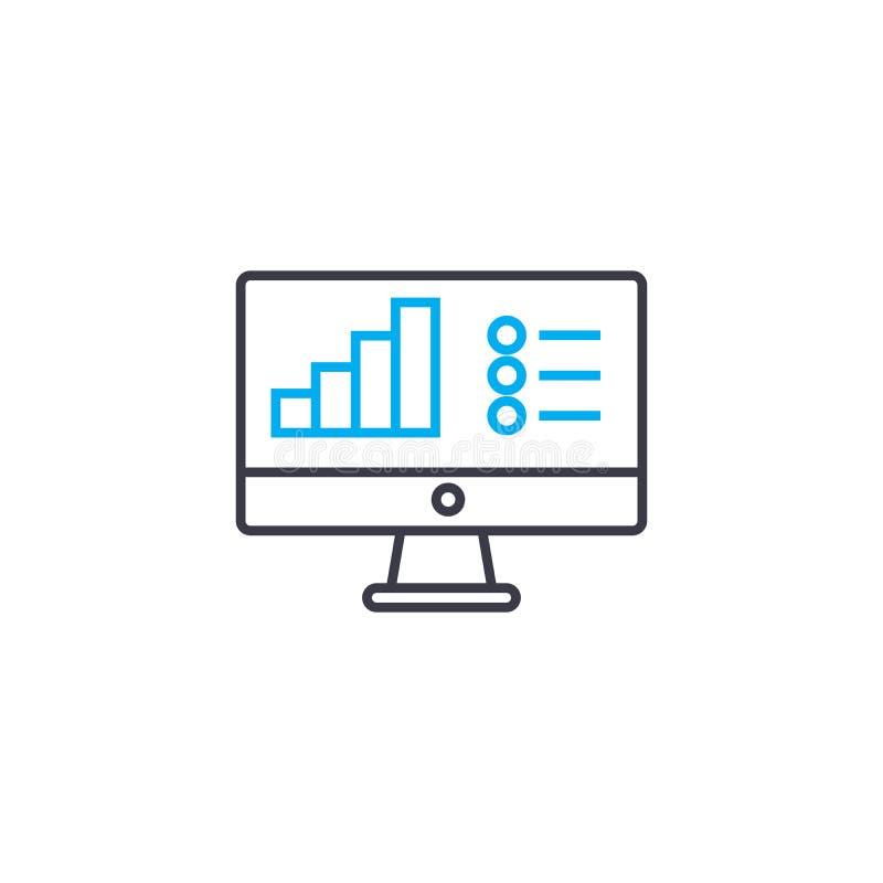 Διανυσματικό λεπτό εικονίδιο κτυπήματος γραμμών μύθου ιστογραμμάτων Απεικόνιση περιλήψεων μύθου ιστογραμμάτων, γραμμικό σημάδι, έ απεικόνιση αποθεμάτων