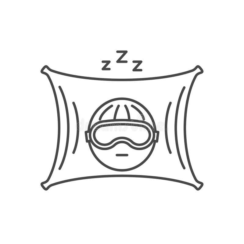 Διανυσματικό λεπτό εικονίδιο ύπνου γραμμών στοκ φωτογραφία με δικαίωμα ελεύθερης χρήσης