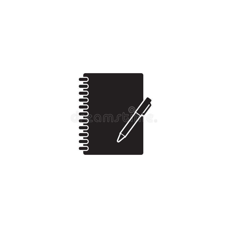 Διανυσματικό λευκό εικονιδίων σημειωματάριων διανυσματική απεικόνιση