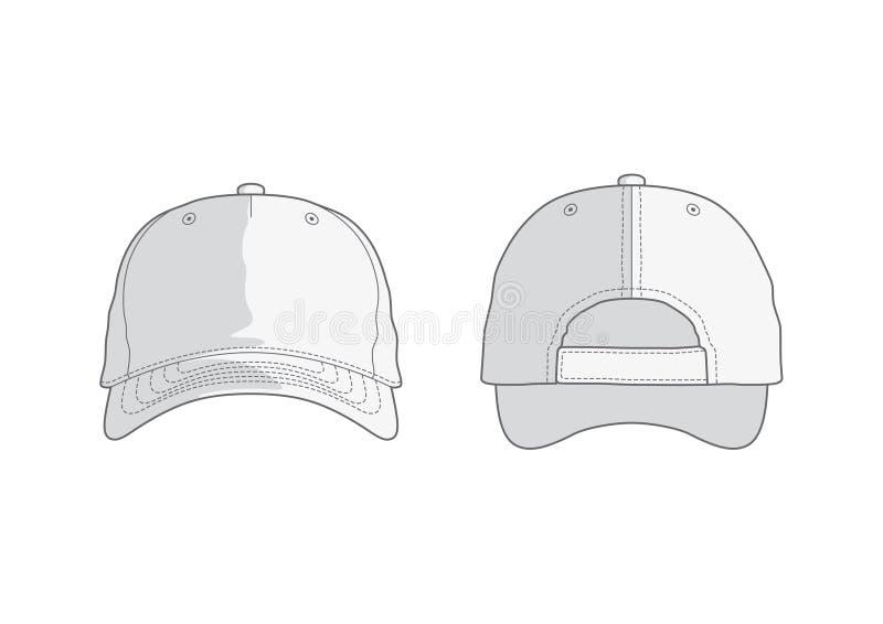 διανυσματικό λευκό καπέ&lamb ελεύθερη απεικόνιση δικαιώματος