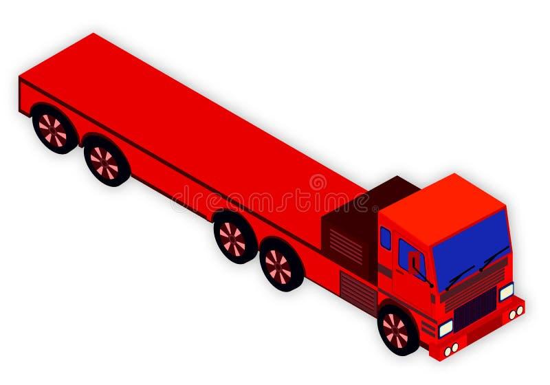 διανυσματικό λευκό truck αντικειμένου ανασκόπησης απομονωμένο σχέδιο Σκάφος εμπορευματοκιβωτίων στο άσπρο υπόβαθρο απεικόνιση αποθεμάτων