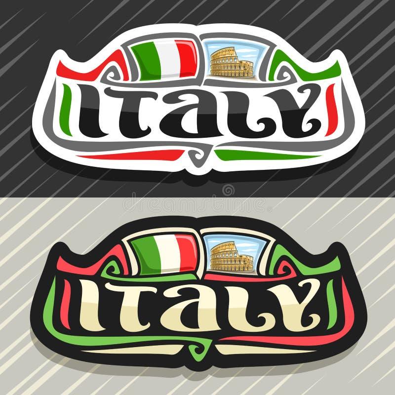 Διανυσματικό λογότυπο για την Ιταλία ελεύθερη απεικόνιση δικαιώματος