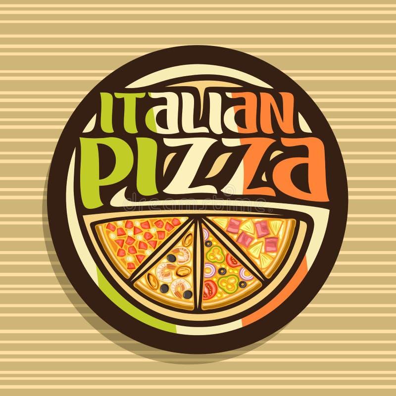 Διανυσματικό λογότυπο για την ιταλική πίτσα ελεύθερη απεικόνιση δικαιώματος