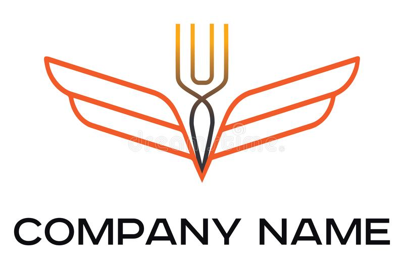 Διανυσματικό λογότυπο για τον καφέ και το εστιατόριο διανυσματική απεικόνιση
