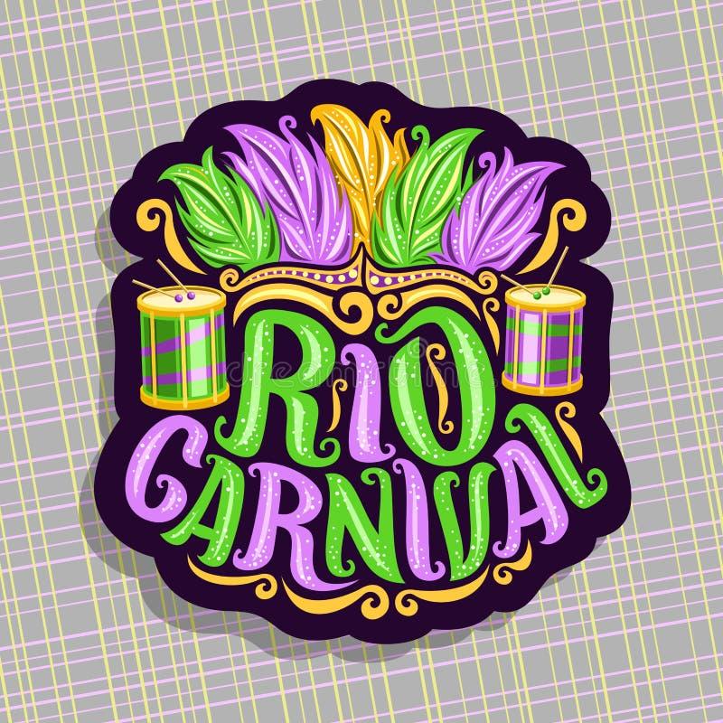 Διανυσματικό λογότυπο για το Ρίο καρναβάλι απεικόνιση αποθεμάτων