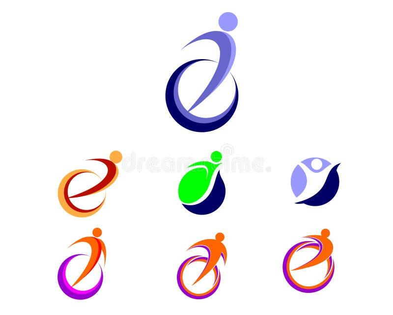 Διανυσματικό λογότυπο εικονιδίων ανθρώπων στοκ εικόνες