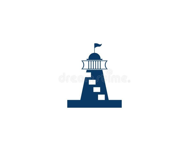 διανυσματικό λογότυπο εικονιδίων φάρων διανυσματική απεικόνιση