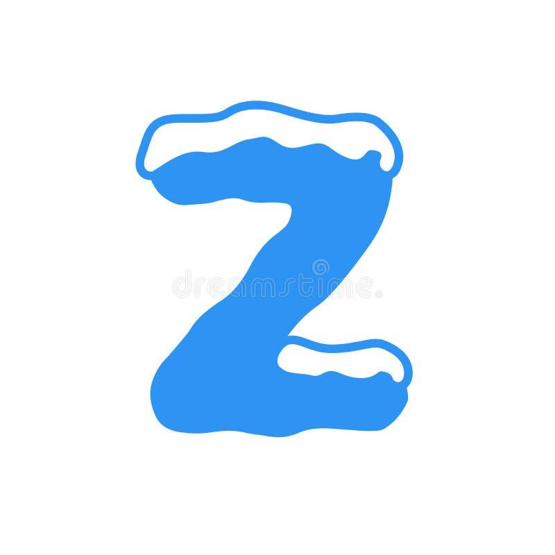 Διανυσματικό λογότυπο Ζ επιστολών χιονιού στοκ φωτογραφίες