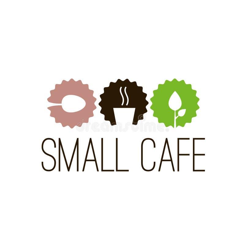Διανυσματικό λογότυπο καφετεριών Εικονίδια καφέδων Εικονίδιο καφέδων Εικονίδιο καφέ διανυσματική απεικόνιση