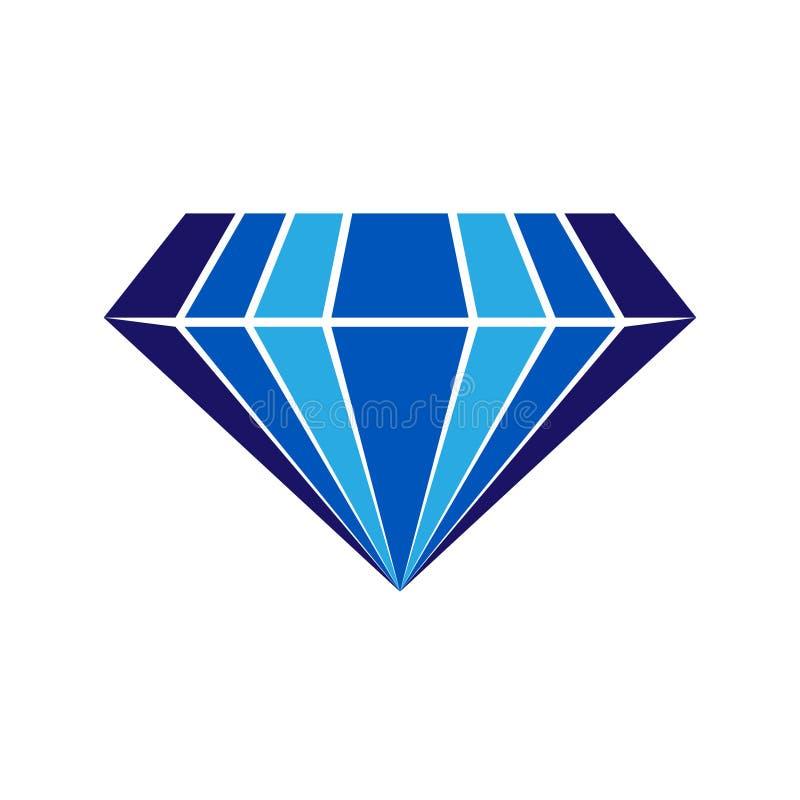 Διανυσματικό λογότυπο σαπφείρου διανυσματική απεικόνιση