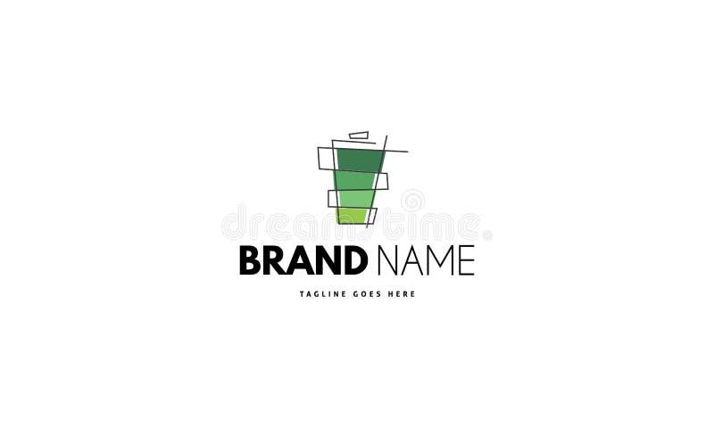 Διανυσματικό λογότυπο στο οποίο η αφηρημένη εικόνα της μπαταρίας απεικόνιση αποθεμάτων