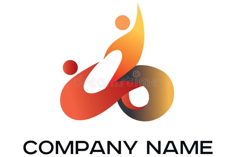 Διανυσματικό λογότυπο χρώματος δύο ανθρώπων διανυσματική απεικόνιση