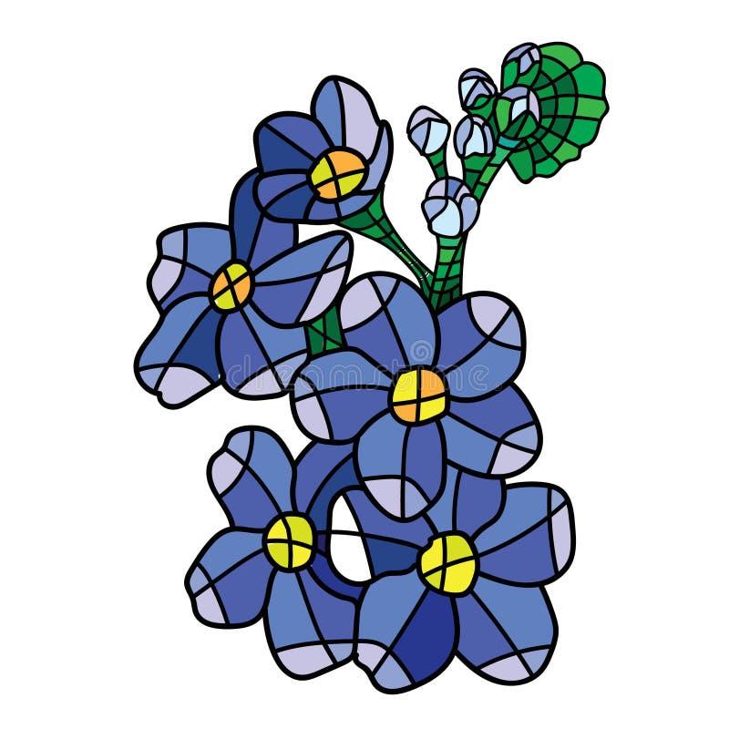 Διανυσματικό λουλούδι μωσαϊκών ελεύθερη απεικόνιση δικαιώματος