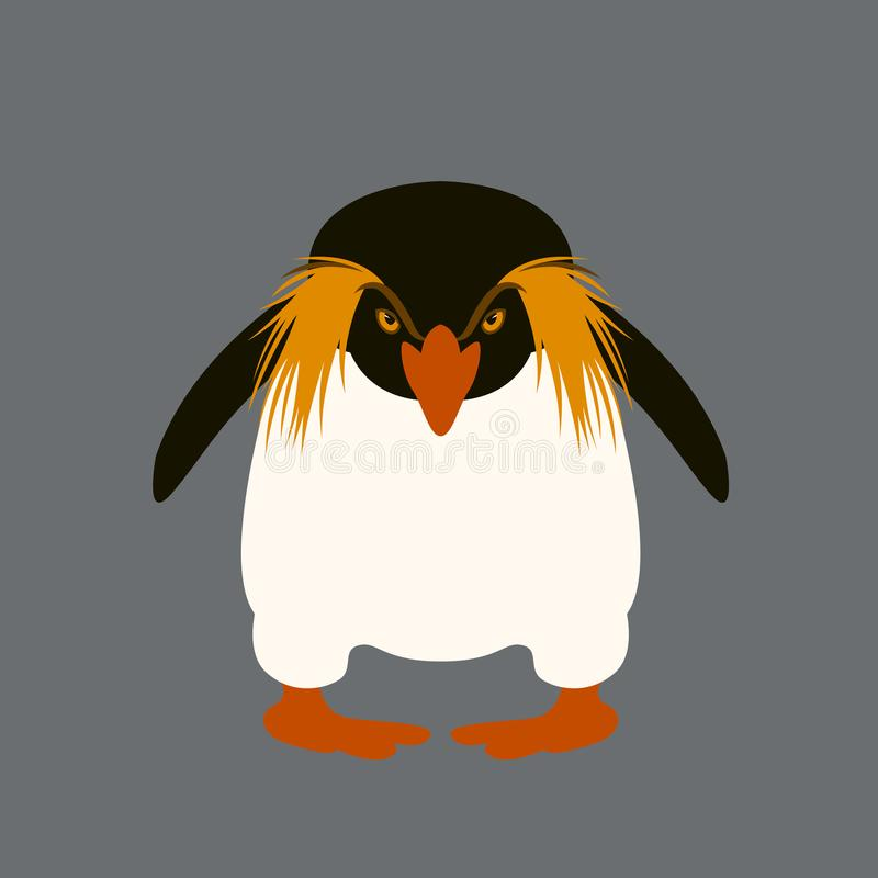 Διανυσματικό μέτωπο ύφους απεικόνισης Penguin οριζόντια διανυσματική απεικόνιση