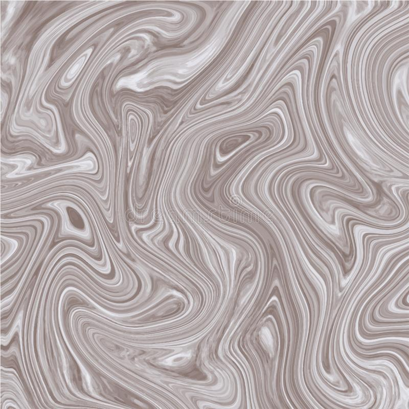 Διανυσματικό μαρμάρινο άσπρο καφετί υπόβαθρο Μαρμάρινη μεταλλική σύσταση μελανιού διανυσματική απεικόνιση