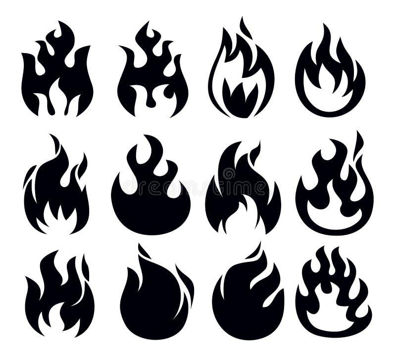 Εικονίδιο πυρκαγιάς απεικόνιση αποθεμάτων