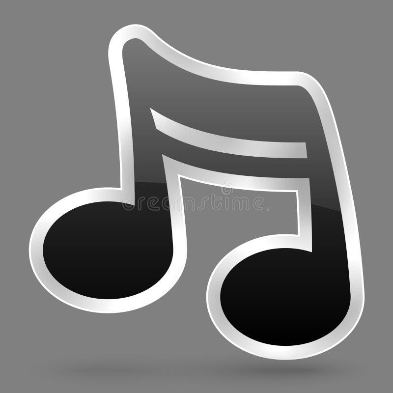 Διανυσματικό μαύρο σύμβολο σημειώσεων μουσικής διανυσματική απεικόνιση