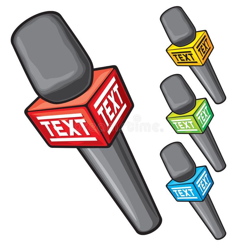 Διανυσματικό μικρόφωνο απεικόνιση αποθεμάτων