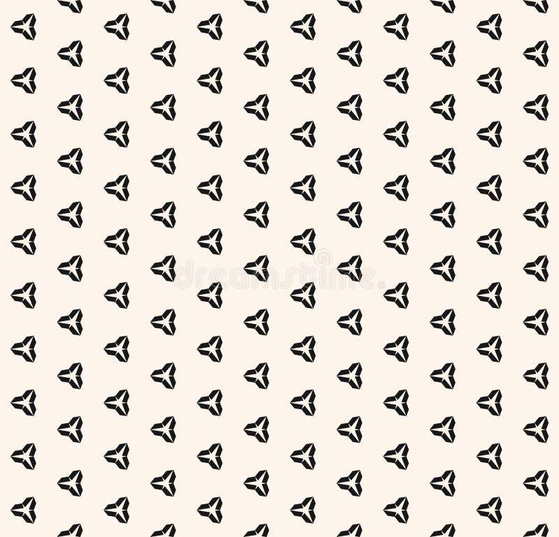Διανυσματικό μινιμαλιστικό γραπτό άνευ ραφής σχέδιο με τις μικρές γεωμετρικές μορφές διανυσματική απεικόνιση