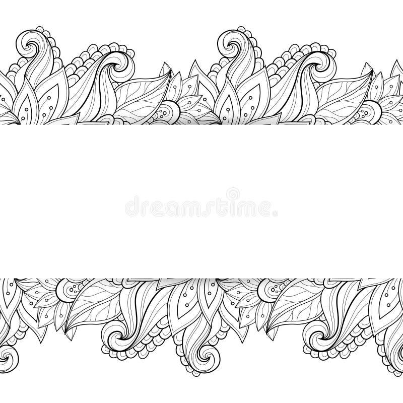 Διανυσματικό μονοχρωματικό Floral υπόβαθρο απεικόνιση αποθεμάτων