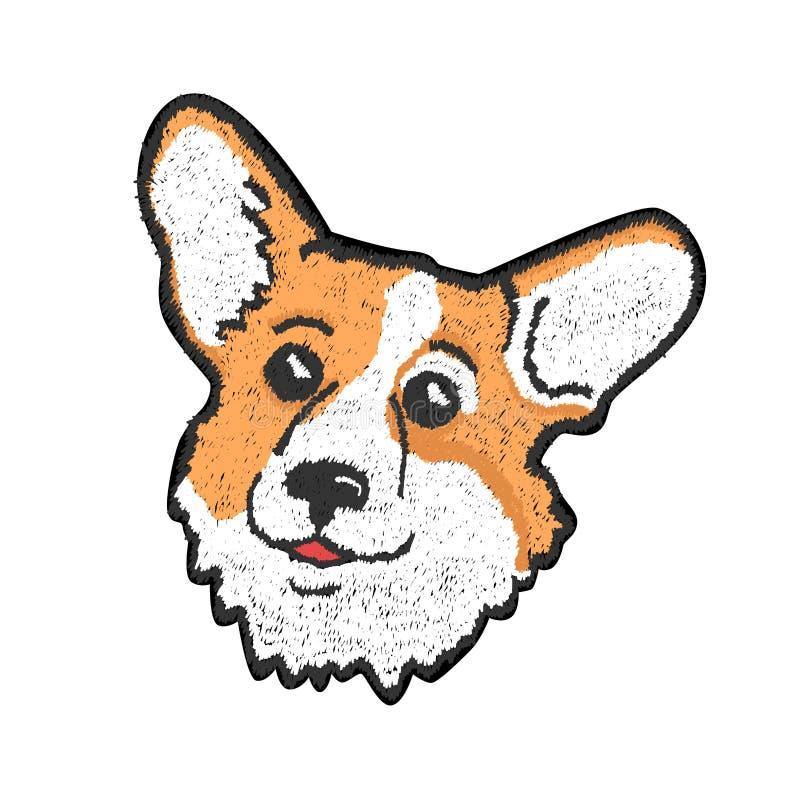 Διανυσματικό μπάλωμα με το ζώο σε ένα άσπρο υπόβαθρο ελεύθερη απεικόνιση δικαιώματος