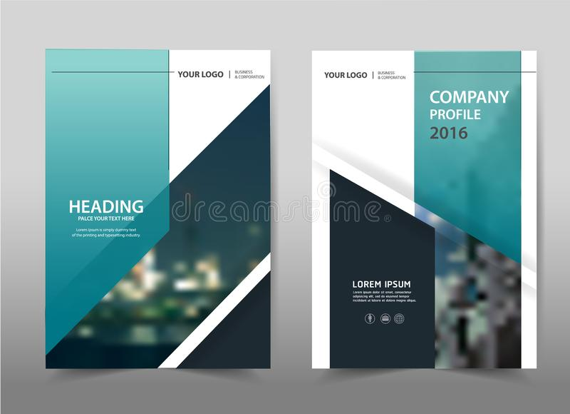 Διανυσματικό μπλε γκρίζο σχέδιο μεγέθους προτύπων ιπτάμενων φυλλάδιων φυλλάδιων ετήσια εκθέσεων A4 διανυσματική απεικόνιση